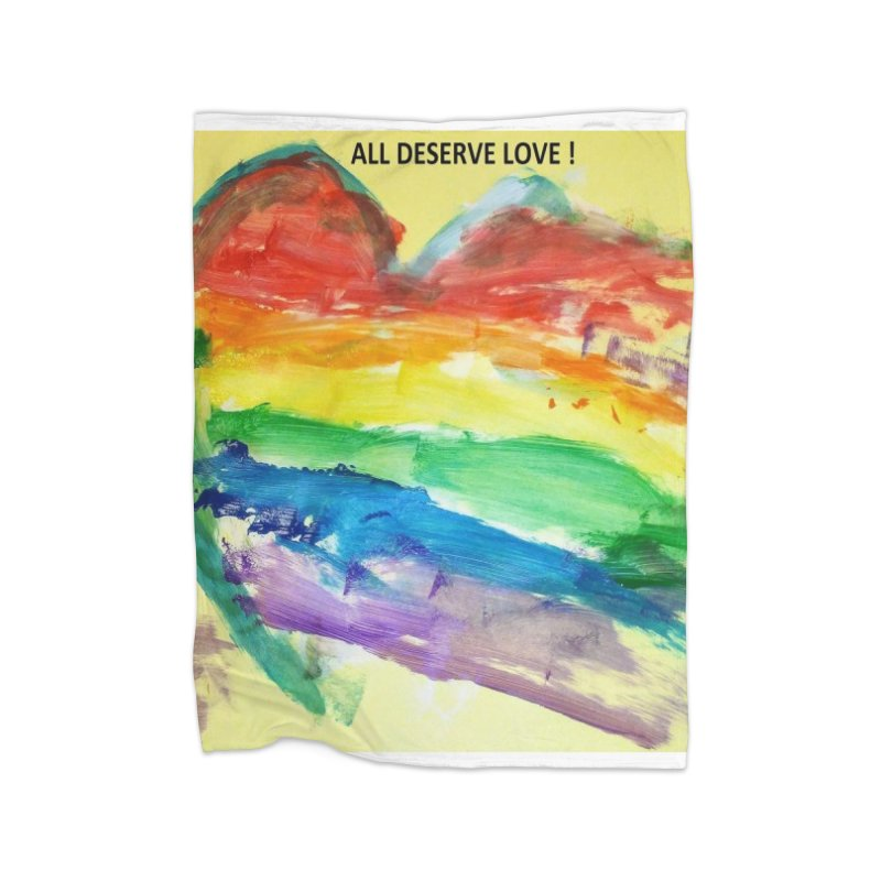 Pride Heart Home Blanket by Mind-art Passion