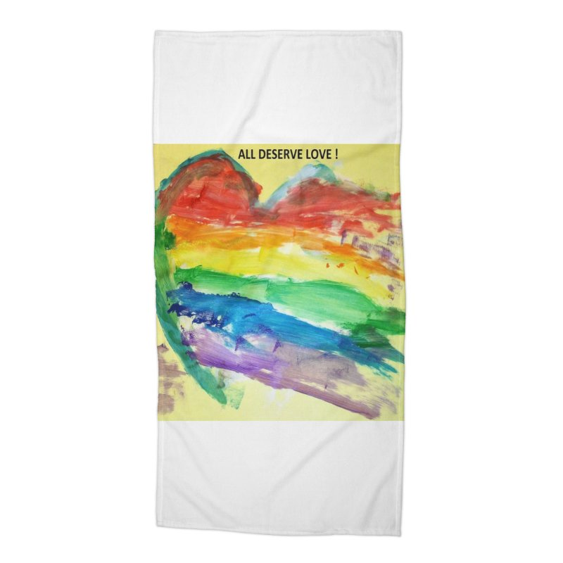 Pride Heart Accessories Beach Towel by Mind-art Passion