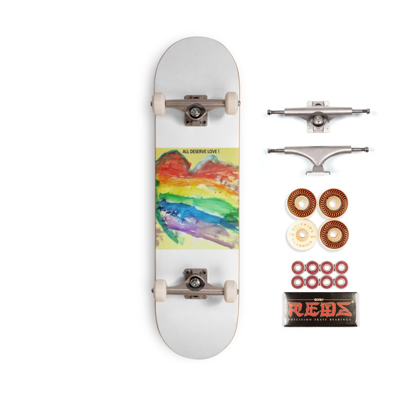 Pride Heart Accessories Skateboard by Mind-art Passion
