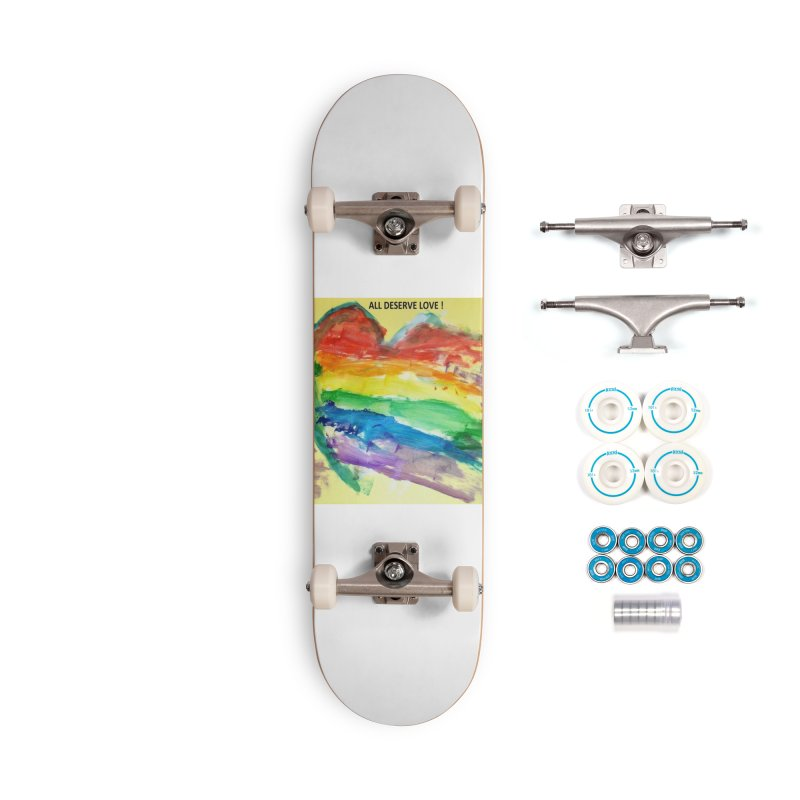 Pride Heart Accessories Complete - Basic Skateboard by Mind-art Passion