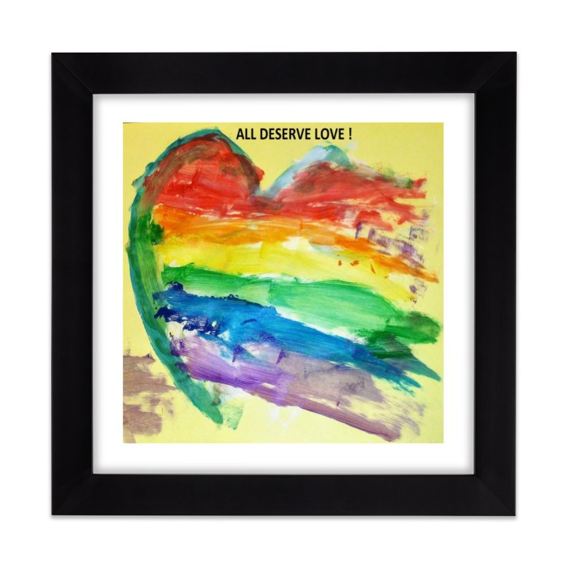 Pride Heart Home Framed Fine Art Print by Mind-art Passion