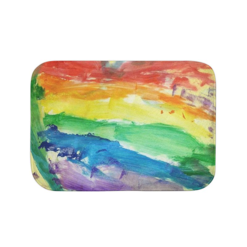 Pride Heart Home Bath Mat by Mind-art Passion