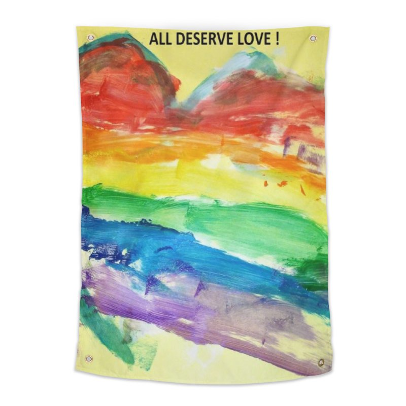 Pride Heart Home Tapestry by Mind-art Passion