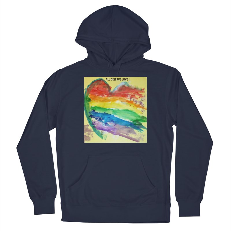 Pride Heart Men's Pullover Hoody by Mind-art Passion