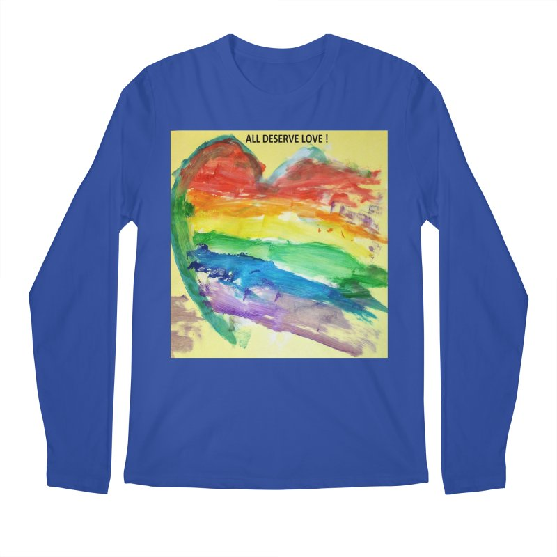 Pride Heart Men's Regular Longsleeve T-Shirt by Mind-art Passion