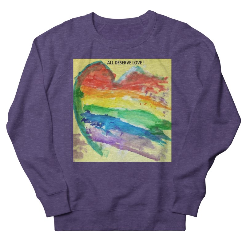 Pride Heart Women's French Terry Sweatshirt by Mind-art Passion
