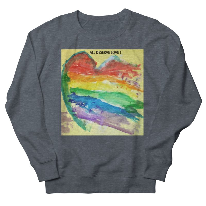 Pride Heart Men's French Terry Sweatshirt by Mind-art Passion