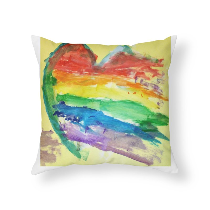 Pride Heart Home Throw Pillow by Mind-art Passion