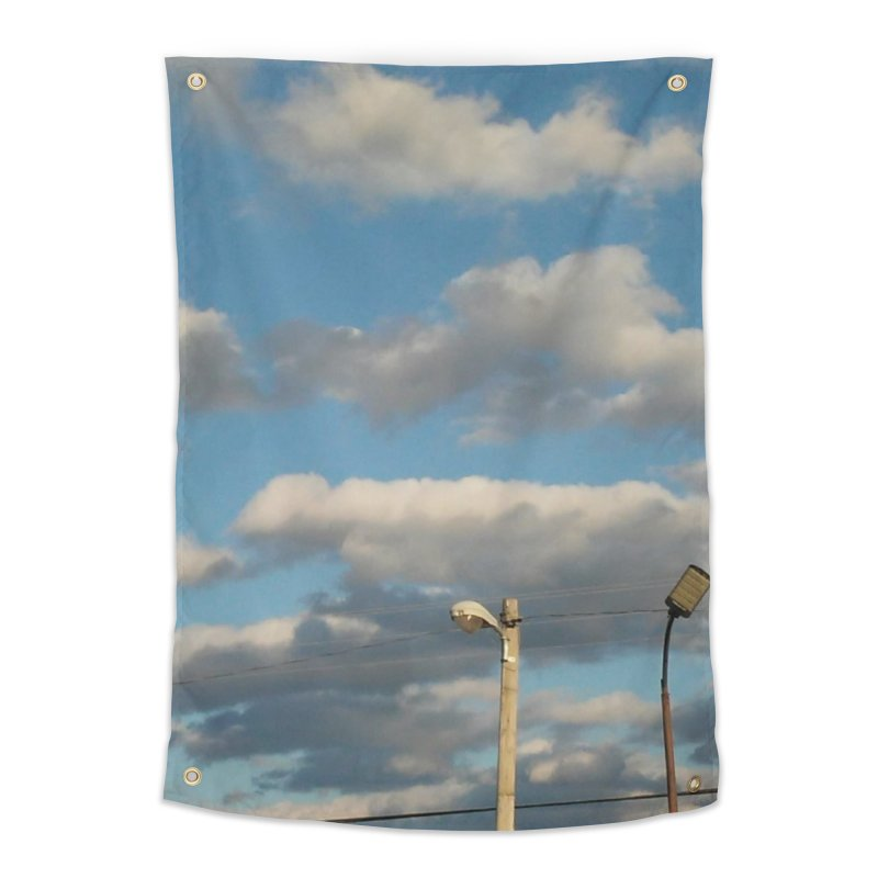 City Clouds Home Tapestry by Mind-art Passion