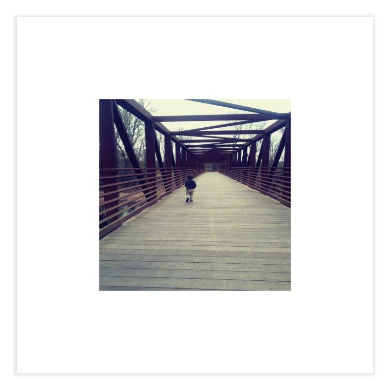 Bridge Stroll Home Fine Art Print by Mind-art Passion