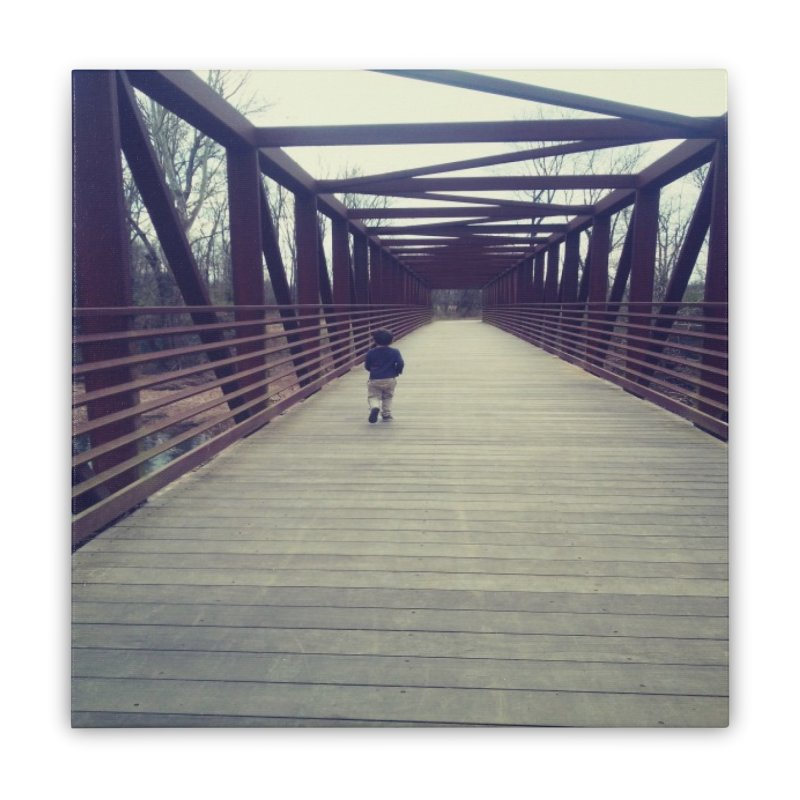 Bridge Stroll Home Stretched Canvas by Mind-art Passion