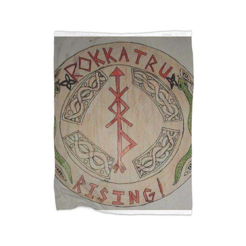 Rokkatru Rising Home Fleece Blanket Blanket by Mind-art Passion