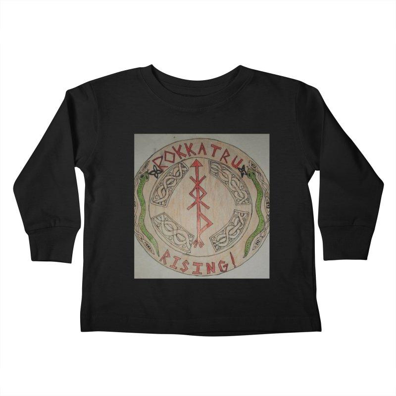 Rokkatru Rising Kids Toddler Longsleeve T-Shirt by Mind-art Passion