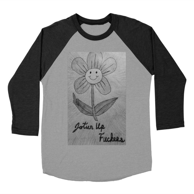 Jotun Up Blk&Wht Women's Baseball Triblend Longsleeve T-Shirt by Mind-art Passion