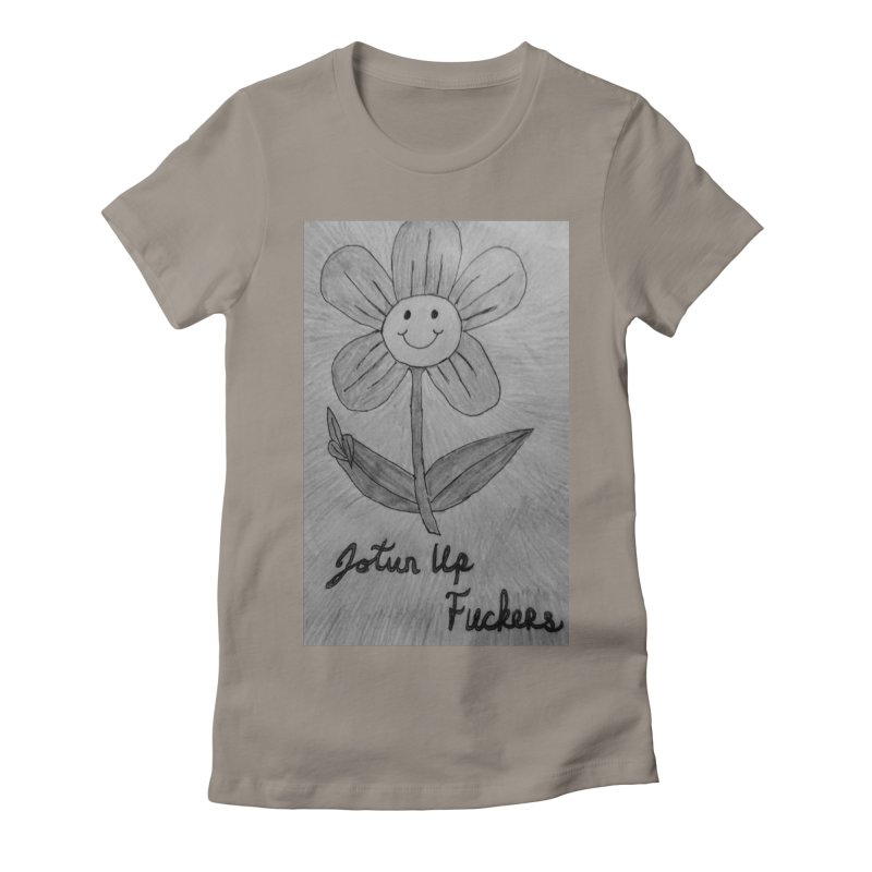 Jotun Up Blk&Wht Women's Fitted T-Shirt by Mind-art Passion