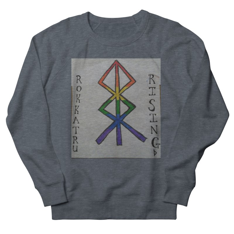 Rokkatru Rising Pride Men's French Terry Sweatshirt by Mind-art Passion