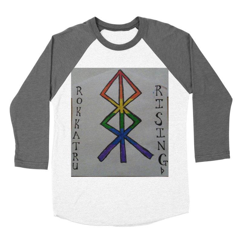 Rokkatru Rising Pride Women's Baseball Triblend Longsleeve T-Shirt by Mind-art Passion