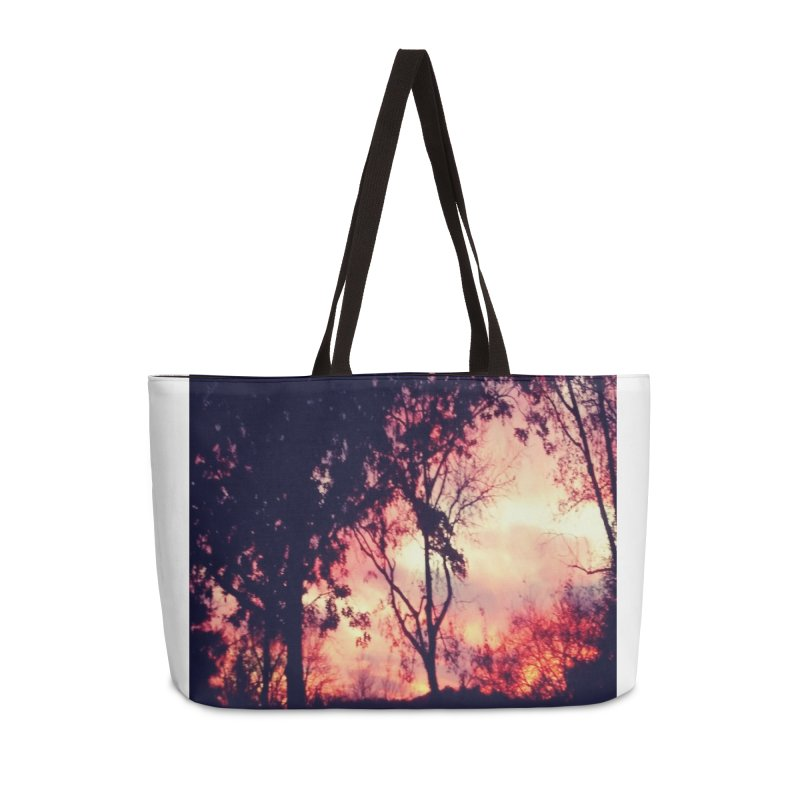 Fiery Sunset Accessories Bag by Mind-art Passion