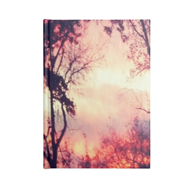 Fiery Sunset Accessories Blank Journal Notebook by Mind-art Passion