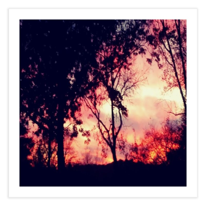 Fiery Sunset Home Fine Art Print by Mind-art Passion