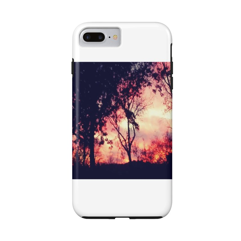 Fiery Sunset Accessories Phone Case by Mind-art Passion