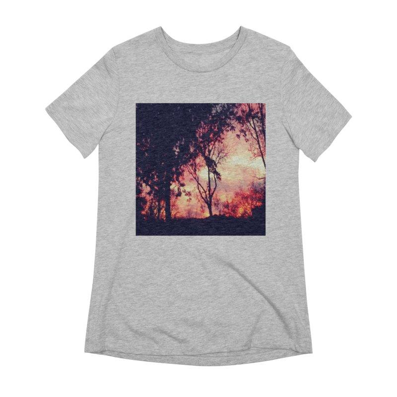 Fiery Sunset Women's Extra Soft T-Shirt by Mind-art Passion