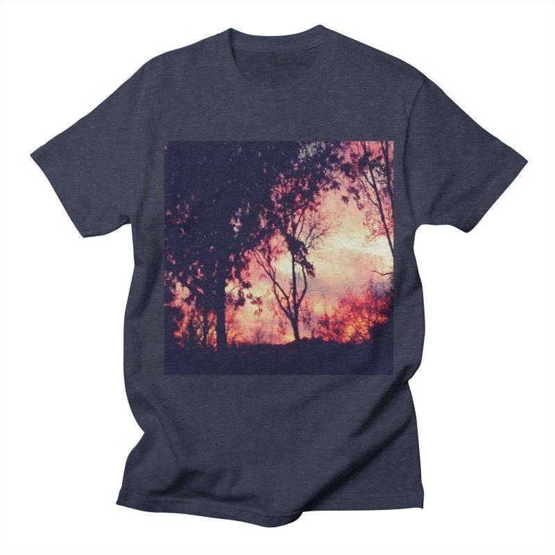 Fiery Sunset Men's T-Shirt by Mind-art Passion