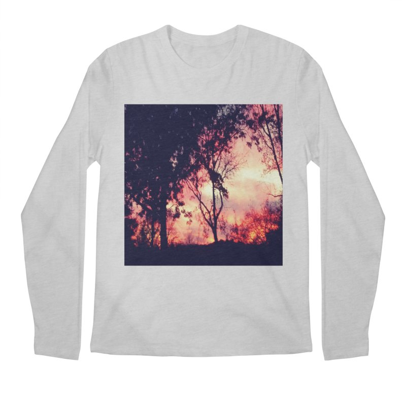 Fiery Sunset Men's Regular Longsleeve T-Shirt by Mind-art Passion