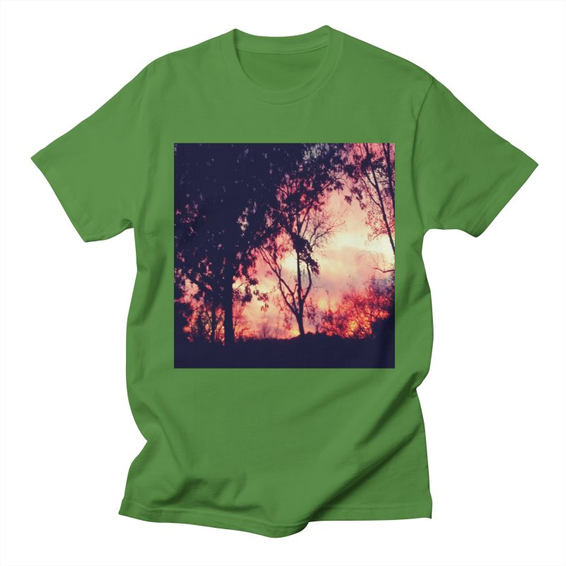 Fiery Sunset Men's T-Shirt by Mind-art Passion