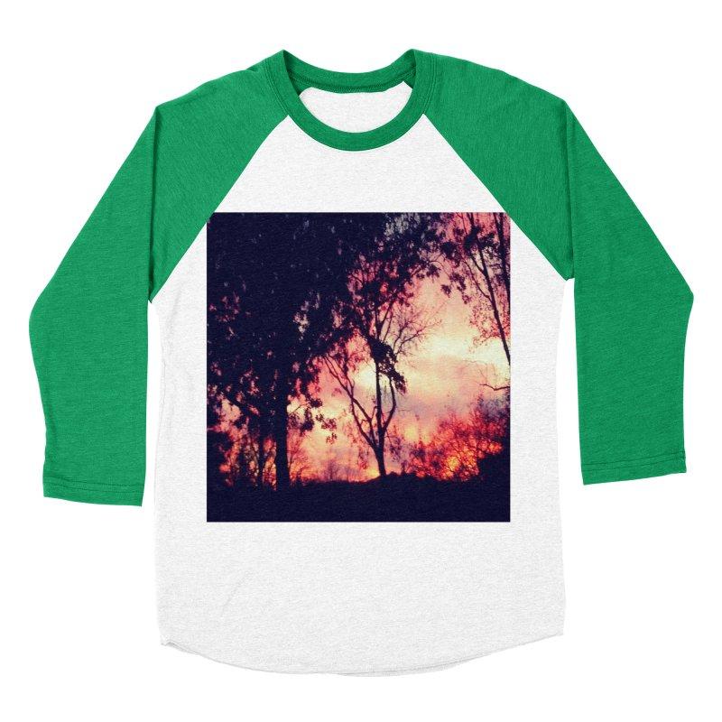 Fiery Sunset Women's Baseball Triblend Longsleeve T-Shirt by Mind-art Passion