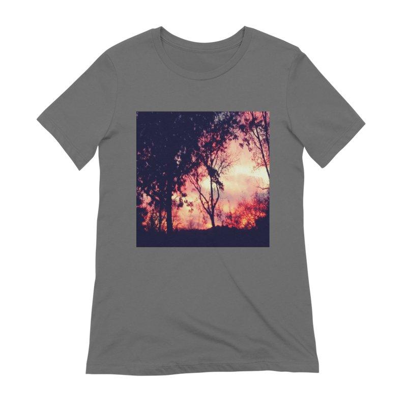 Fiery Sunset Women's T-Shirt by Mind-art Passion