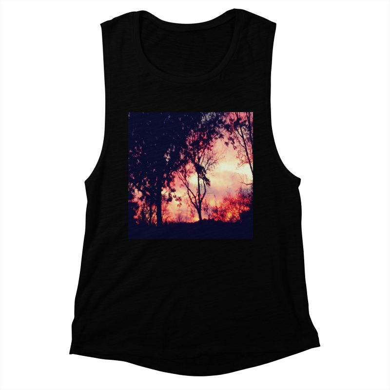 Fiery Sunset Women's Muscle Tank by Mind-art Passion