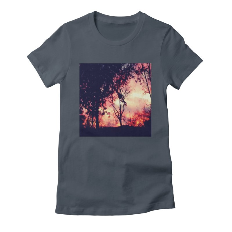 Fiery Sunset Women's T-Shirt by Mind-art Passion