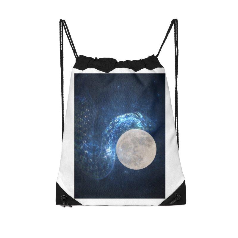 Jormungandr Accessories Drawstring Bag Bag by Mind-art Passion
