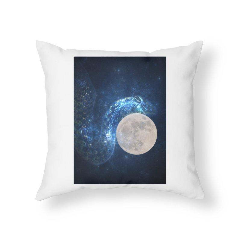 Jormungandr Home Throw Pillow by Mind-art Passion