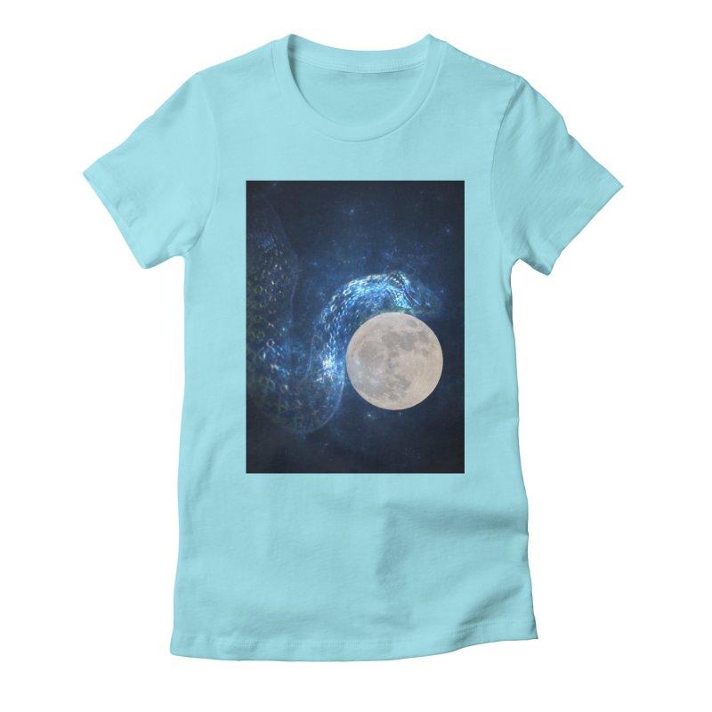 Jormungandr Women's Fitted T-Shirt by Mind-art Passion