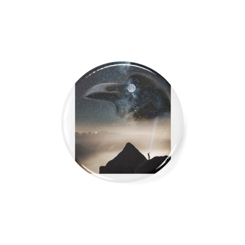Old Crow Accessories Button by Mind-art Passion