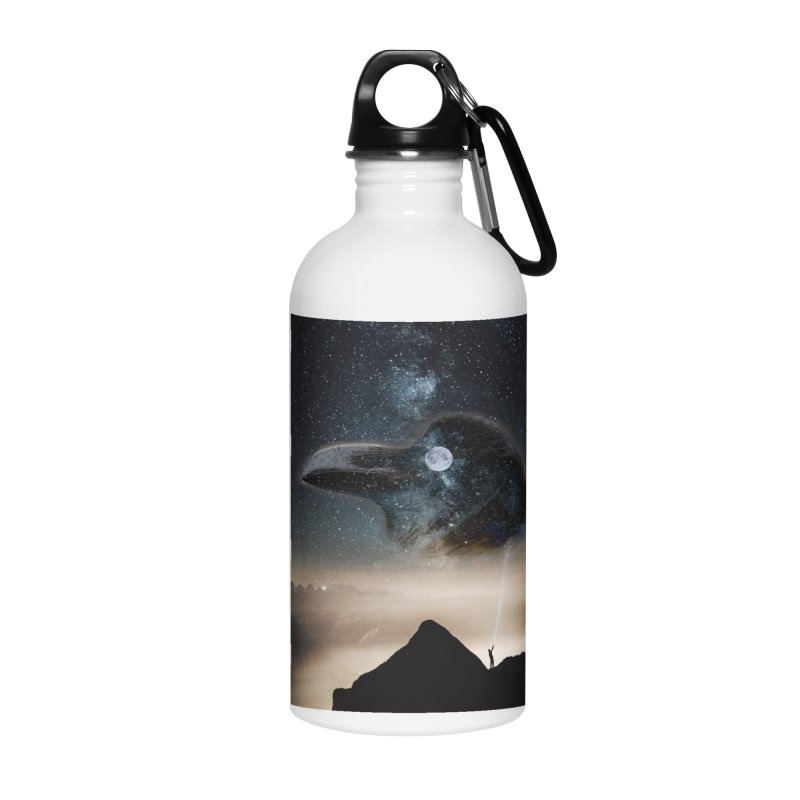 Old Crow Accessories Water Bottle by Mind-art Passion