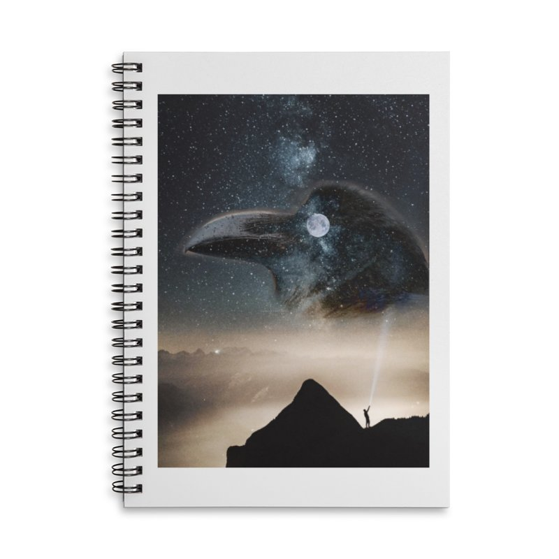 Old Crow Accessories Notebook by Mind-art Passion