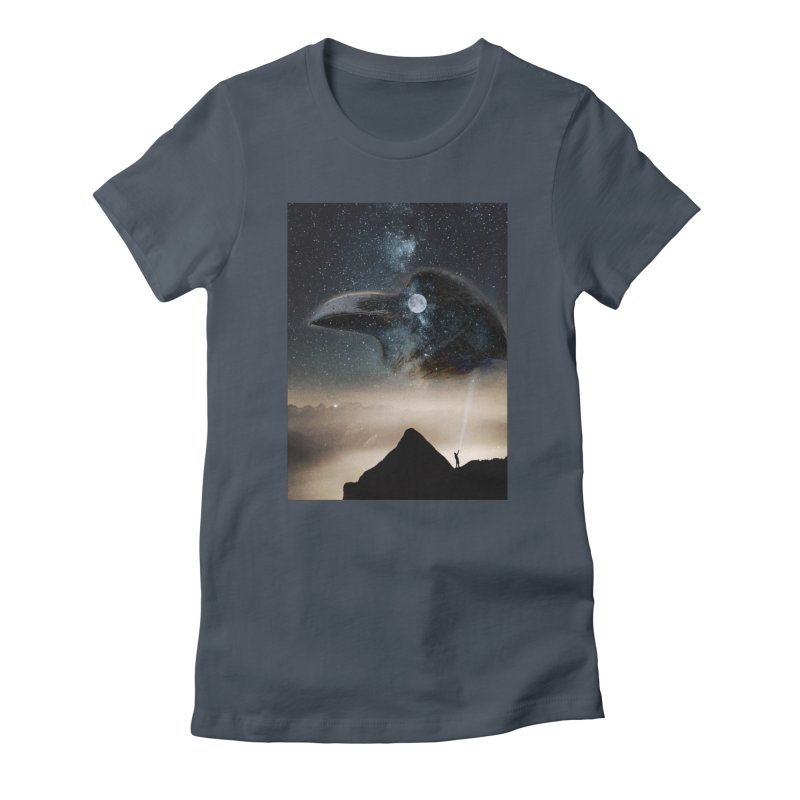 Old Crow Women's T-Shirt by Mind-art Passion