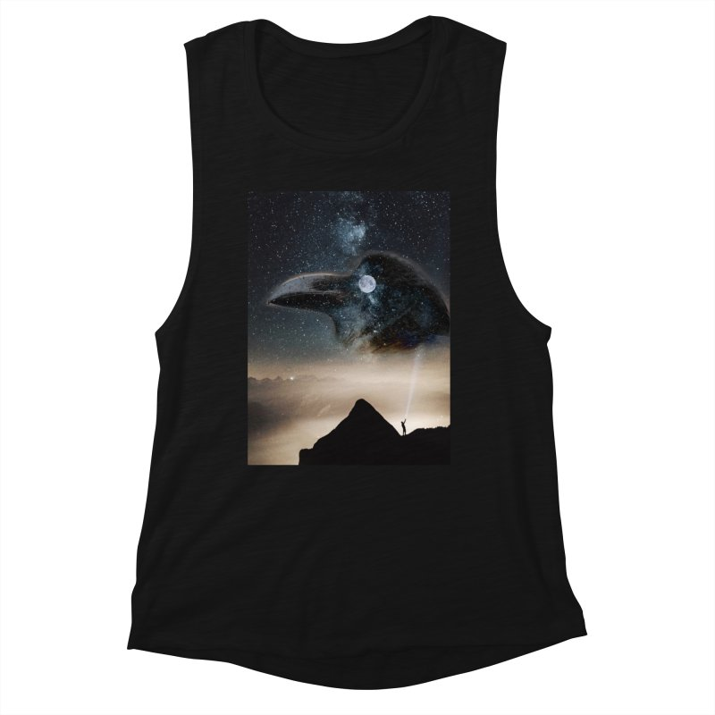 Old Crow Women's Tank by Mind-art Passion