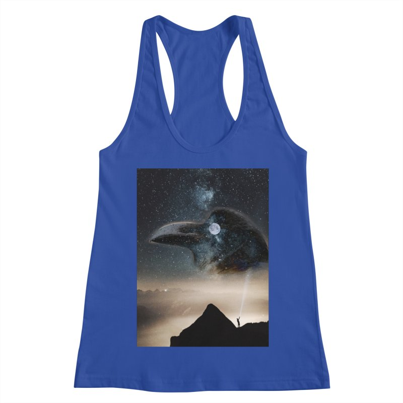 Old Crow Women's Racerback Tank by Mind-art Passion