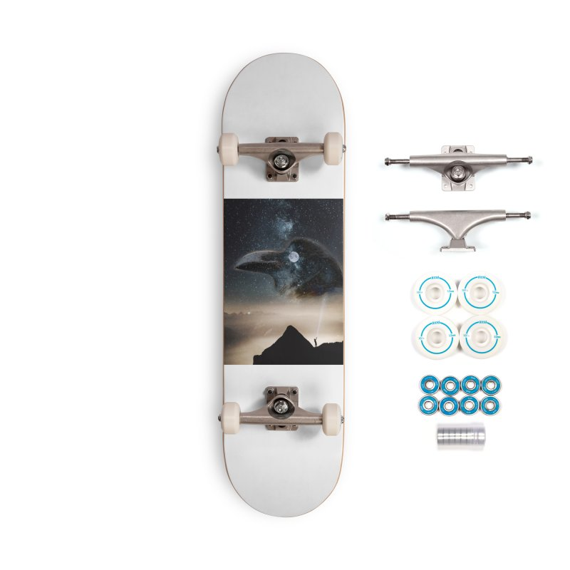 Old Crow Accessories Complete - Basic Skateboard by Mind-art Passion
