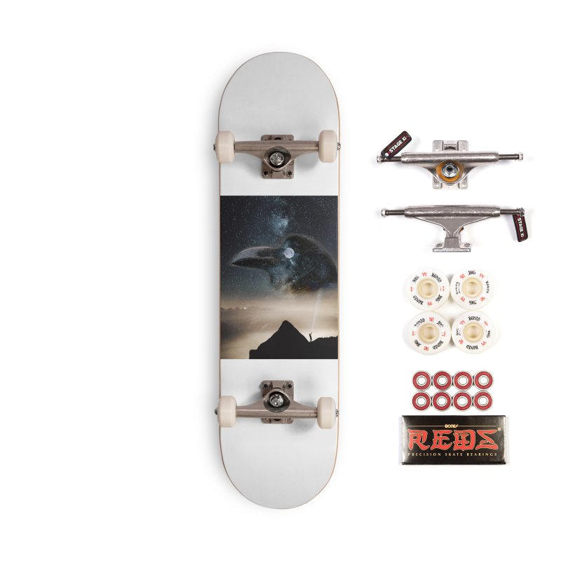 Old Crow Accessories Skateboard by Mind-art Passion