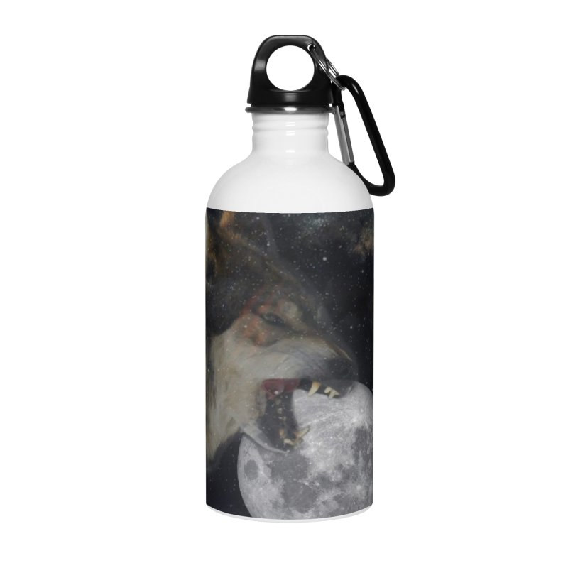 Fenrir Accessories Water Bottle by Mind-art Passion