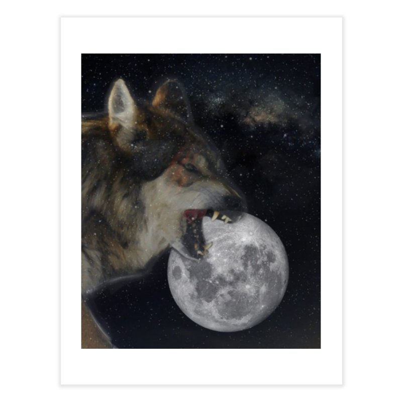 Fenrir Home Fine Art Print by Mind-art Passion