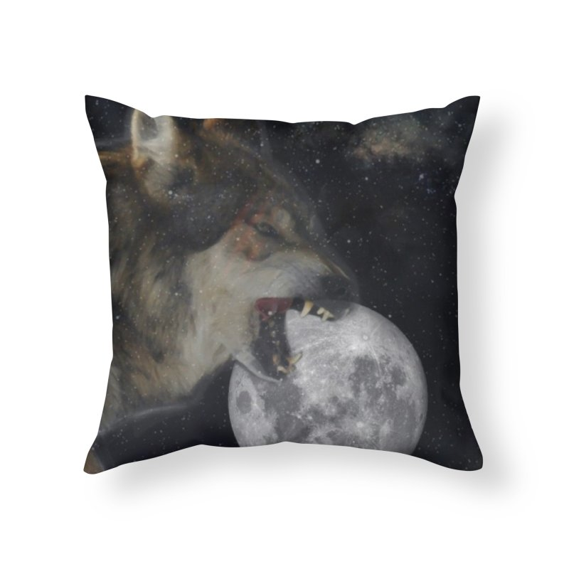 Fenrir Home Throw Pillow by Mind-art Passion