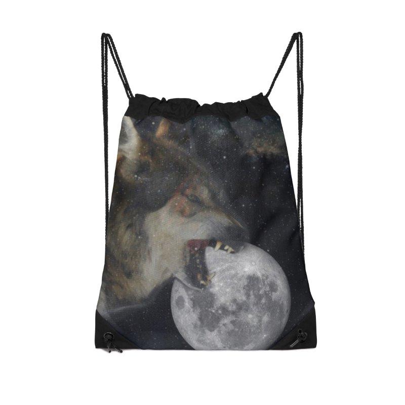 Fenrir Accessories Drawstring Bag Bag by Mind-art Passion