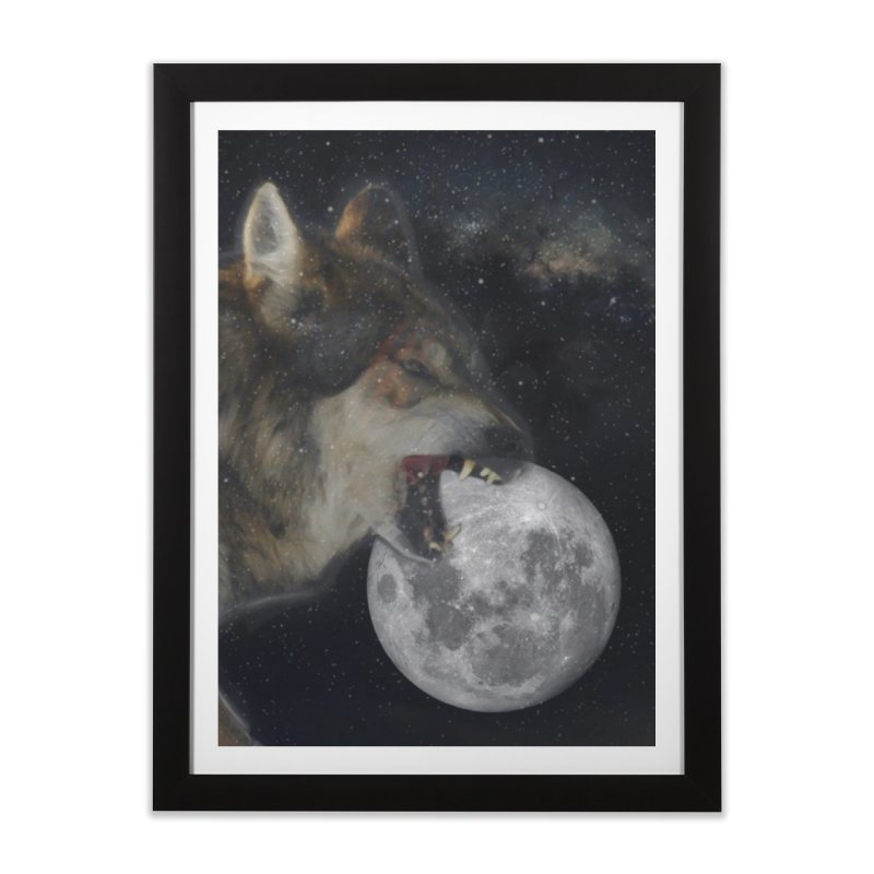 Fenrir Home Framed Fine Art Print by Mind-art Passion