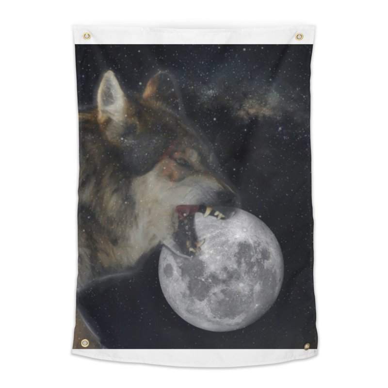 Fenrir Home Tapestry by Mind-art Passion